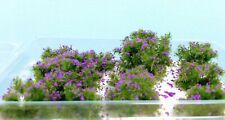 WarHammerGreen Cespugli 2/4 cm circa con Fiori viola w21 diorama accessori