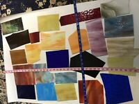 26 pcs 7+ lb not scrap STAINED GLASS Large   PIECES. #21