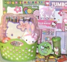 NEW HELLO KITTY EASTER TOY GIFT BASKET PLUSH BUNNY EGG HUNT TOYS ART PLAY SET