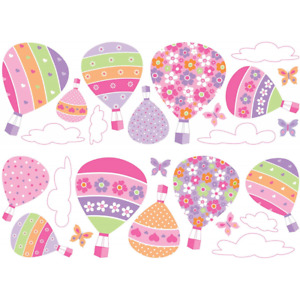 Hot Air Balloons Wall Stickers - Pink