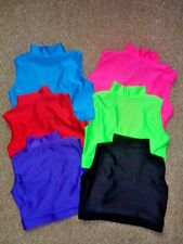 Beginner Turtle Neck Crop Top Dance / Freestyle/Gym 4yrs -14yrs 13  colours