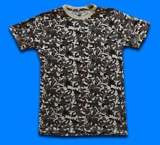 THE DUFFS..SMALL..ALL OVER SKATE CAMO..MEN'S CREW NECK COTTON T SHIRT TEE TOP