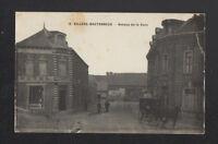 VILLERS-BRETONNEUX (80) ATTELAGE au CAFE-HOTEL animé en 1916