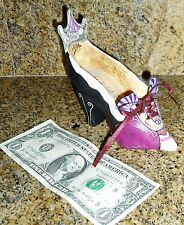 Collectible Decorative Shoe with ribbon lace