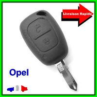Coque Télécommande Plip Clé Opel Vivaro Movano + Lame vierge