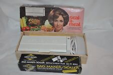 Vintage SEAL A MEAL  USA MADE INSTRUCTIONS in BOX + West bend replacement film