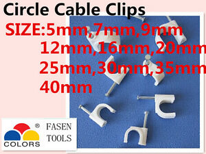 Bulksale Availabl Cable Clips Electrical Cable Plastic Circle Nail