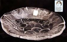 Sasaki Full Lead Crystal Plate with Large Leaves New with Original Labels