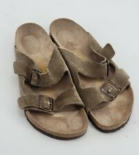 Birkenstock Mens Suede Sandals Shoes Size 12 Taupe Tan Leather 45 EUC