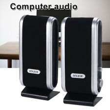 USB 6W Power Laptop Computer PC Speakers w3.5mm Ear Jack for Sumsung Iphone