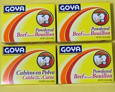4 Boxes Goya Beef  Flavored Powdered Bouillon /Cubitos-Polvo-Beef 2.82 oz