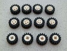 Lego 4624c02 # 12 x Reifen Räder Rad Felge weiß 6597 10159 6394 4560