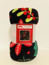 Mainstays Cozy Plush Fleece Throw Blanket, Botanical, New, Free Shipping