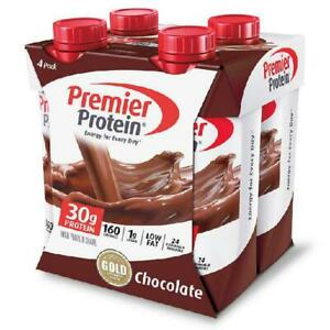 Premier High Protein Shake Chocolate 30g Protein Energy Drink Shake 4 Pack 11 Oz