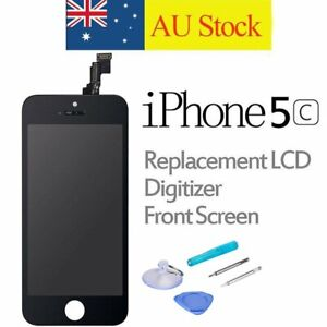 For iPhone 5C LCD Screen replacement Digitizer Assembly Front Panel Black+Tools
