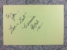 Veronica Hart - Roommates - Amanda by Night - Autograph 1981
