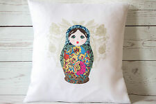 "Russian doll blue - 16"" cushion cover French shabby vintage chic - UK handmade"