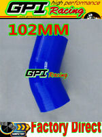"""NEW Silicone Joiner 45 Degree Bend Elbow Radiator Hose 102mm 4""""inch Silicon Pipe"""