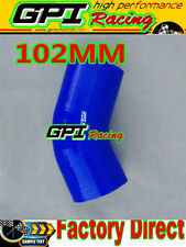 "NEW Silicone Joiner 45 Degree Bend Elbow Radiator Hose 102mm 4""inch Silicon Pipe"