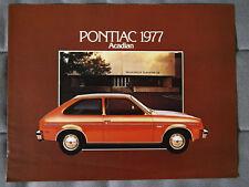 PONTIAC ACADIAN 1977 Dealer Brochure - French - Canadian Market