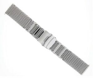 22MM SHARK MESH 4MM THICK STAINLESS STEEL WATCH BAND FOR 40MM PANERAI H LINK #1