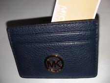 1a6d8bf5c964 NEW MICHAEL KORS LADIES LEATHER CARD CASE HOLDER WALLET NS NAVY COLOR
