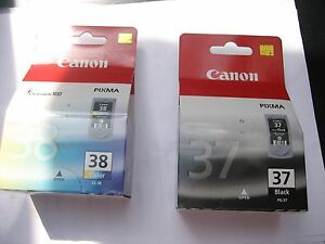 VALUE PACK PG-37 + CL-38 CANON ORIGINAL pixma  IP2500 ip1800 MG666 MX-300 310