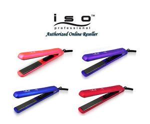 "Iso Beauty Authentic NIB Diamond Collection 1.25"" Hair Straightener Flat Iron"