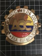 Automovil Club de Columbia ACC Car Badge