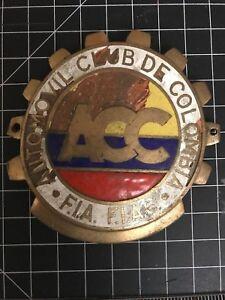 Automovil Club de Columbia ACC Car Badge