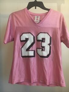 Woman's Size M Medium Dolphins Ronnie Brown 23 Pink Jersey 754