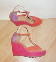NEW Clarks softwear ladies SCENT FLOWER suede wedge heeled shoes - various sizes