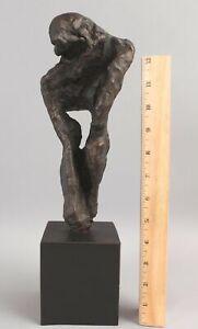 Original Michael Eliot Brutalist Abstract Figure Bronze Sculpture NO RESERVE
