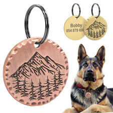 Brass Pet Dog Tags for Dogs Engraved Personalized With Name Telephone Customized
