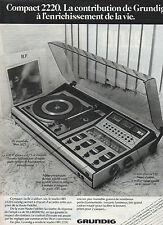 Publicité 1976  le studio HIFI 2220 Grundig Compact