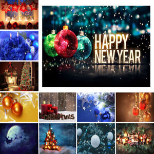 Merry Christmas Background Vinyl Cloth Photography Backdrop Props PERSONALISED