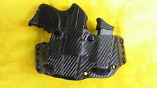 HOLSTER WITH EXTRA MAG BLACK CARBON KYDEX FITS RUGER LCP WITH LASER