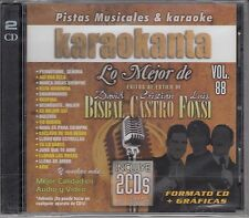 David Bisbal,Cristian Castro,Luis Fonsi 37 Temas  Karaoke 2CD New Nuevo Sealed