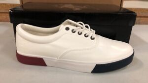 Beverly Hills Polo Club Jon Spring Memory Foam White Leather Shoes Size 8.5 - 13