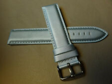 New Unisex Light Teal Padded Synthetic 20mm Watch Band Silver Tone Buckle