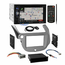 Planet Audio DVD Navigation Stereo Silver Dash Kit Harness for 2009-13 Honda Fit