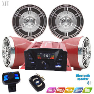 @UTV,ATV, Anti-Theft Speakers USB Audio System Stereo Bluetooth Motor Remote