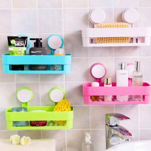 Bathroom Shelf Shower Caddy Organizer Wall Mounted Shampoo Rack Kitchen Storage