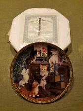 "Bradford Exchange 8"" Collectors Plate, Tender Tails Series, ""Mirror Image"""