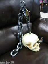 """Skull With Hook And Chain Totally Ghoul Top Of Head To End Of Chain 28"""""""