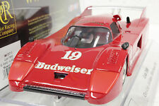 SRC 01711 LOLA T600 BUDWEISER IMSA MOSPORT 1981 NEW 1/32 SLOT CAR IN DISPLAY