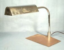 """VINTAGE MID CENTURY MODERN """"REVLON"""" COUNTER TOP CHROME AND COPPER LAMP"""