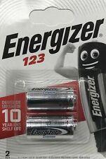 2 Energizer Lithium CR123 Batteries