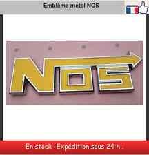 Stickers logo 3D emblem NOS jaune  nitrous oxide alliage