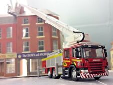Scania Angloco Verna Combined Aerial Ladder Fire Engine Model 1:76 OO/00 Oxford